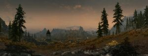 Whiterun and the Setting Sun 1 by The-Brade