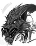 Werewolf Sketch by TricomiArt