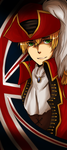 APH - Bookmark- PirateEngland by KaruKaruKira