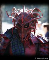 Dragon mask closeup by Red-Dragon-Lord