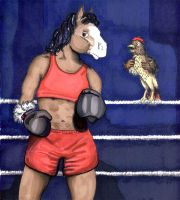Dalia the Boxer by calzephyr