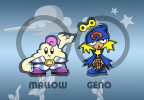 SMRPG: Mallow and Geno by professorfandango