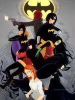 Batfamily by chocomantha