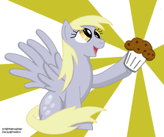 Derpy Hooves give you a muffin by Ale939