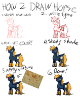 How 2 Draw Horse by LordMoonBiscuit