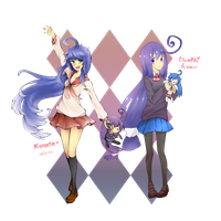 Collab: Konata and Tsumiki by Me2Unique