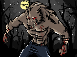 Werewolf 'sketch' by skillz911