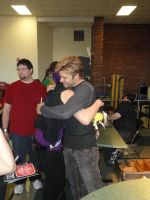 Vic giving me a hug by Refianku