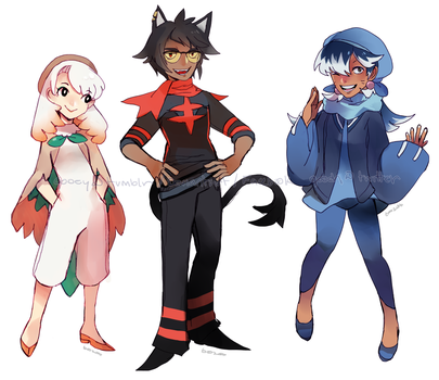 Sun and Moon Starters by 6ooey