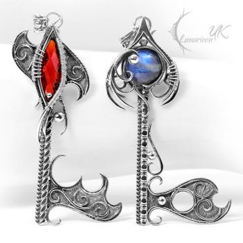 CTHARNILL and ARNG GHTAR, key pendants. by LUNARIEEN