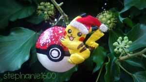 *FOR SALE * Pikachu Christmas Tree Ornament by stephanie1600