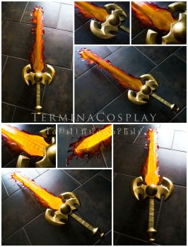 Fire Sword Commission by TerminaCosplay