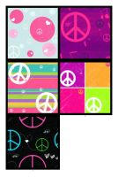 Peace Symbol Pattern by krystalamber2009