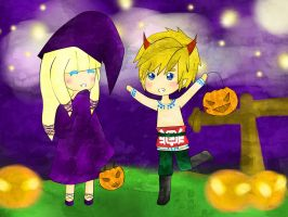 Skyward Sword!ZeLink: Halloween Contest by SoulSilverDesu