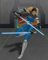 Agila'lani, Jedi Knight by issuesmissflight