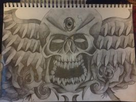 Skull Design Complete by AdamCareless