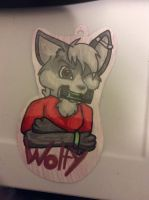 Wolfy Badge by Pure-Escapism