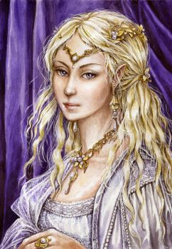 Galadriel, the Lady of Lorien by edarlein