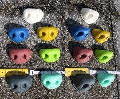 Silicone canine noses by Chibi-Alu