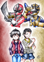Shinken Red and Gold by Ian-the-Hedgehog