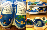 Hand-Painted Peter Pan Sneakers by BlueIrisArt