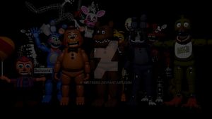 Five Nights at Freddy's 2 Animatronics Complete! by Mistberg