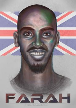 Mo Farah by GDSWorld