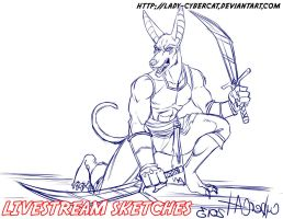 April Livestream Commissions 11 by lady-cybercat