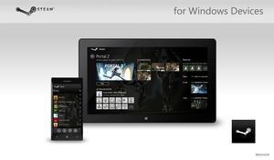 Steam for Windows Devices by MetroUX