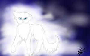 Ghost cat by wolf-drawer-kayla