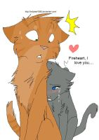 Fireheart and Cinderpelt-paw by NonsensicalLogic