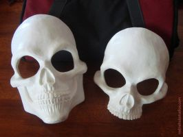 Human Skull Full and Half Mask Blanks by Nightlyre