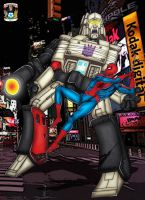 Spiderman Vs Megatron - colour by hellbat