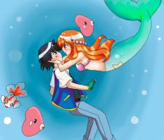 Pokeshipping: An Underwater Romance by EN-Avent