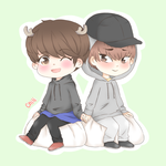 mr. little deer and mr. baozi by sehuns-hips
