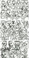Care Bears' face expressions and body language 2 by elfman83ml