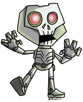 zombot by puffychin by richard-chin