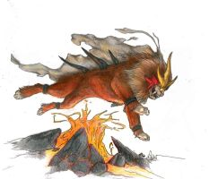 The Legend of Entei by Canyx