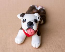 Bogie the bulldog sculpture 2 by SculptedPups