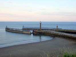 whitby  harbour entrance , by Sceptre63