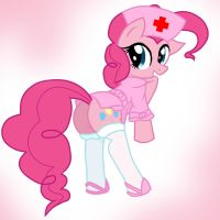 Pinkie Pie Nurse by Pyruvate