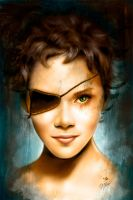 Portrait of Halle Berry by royo12