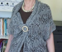 Endless knitted Cardi Shawl by basia-hs