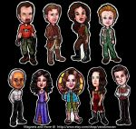 Nine Piece Firefly Magnet Set by vandonovan
