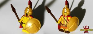 Custom LEGO Spartan Hoplites by Saber-Scorpion