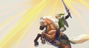 Link and Epona by Lileiv