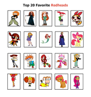 Top 20 Favorite RedHeads Character Meme by StarStyle14