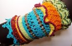 Colourful Crochet Cuff by Judescreations