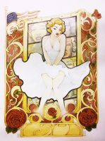 MARILYN tribute (art nouveau is back) by ozzie325