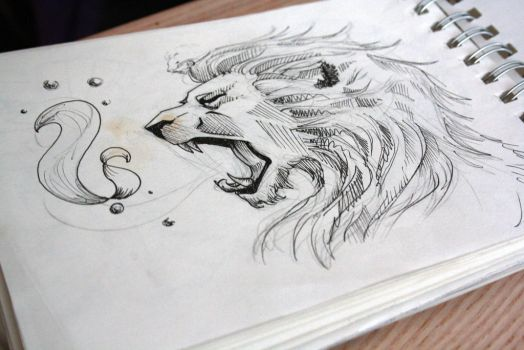 Lion Tattoo Design 3 by PanthersHonor